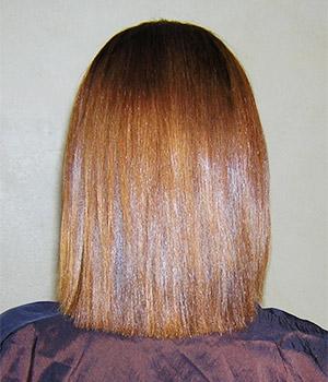 изправяне на къса коса