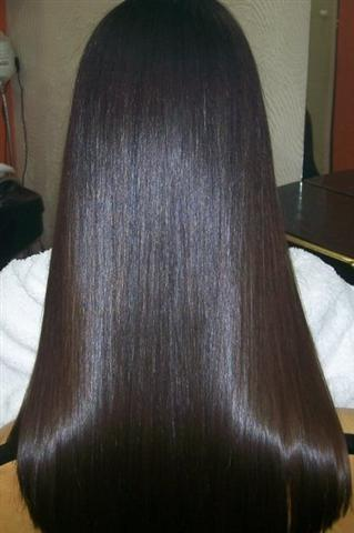 Therapy for permanent straightening short hair